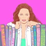 JAckie Collins, portrait, illustration, ryan hodge, Ryanhodgeillustration